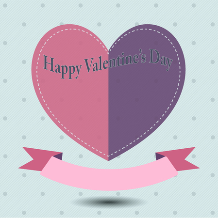 suitable: Happy valentines day and wedding design elements, paper hearts or greeting card. Suitable for various designs, invitation and scrapbook. Vector festive holiday illustration. EPS10