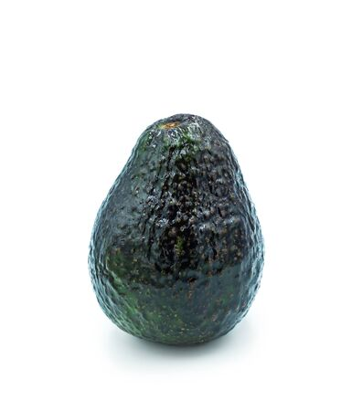 Fresh vegetables. Avocado isolated on white background. One green pear-shaped fruits.