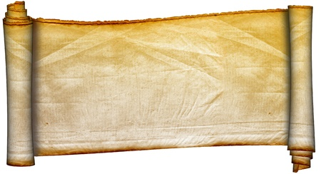 scroll paper: Scroll of antique parchment.