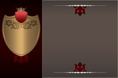 Decorative background with golden elements  photo