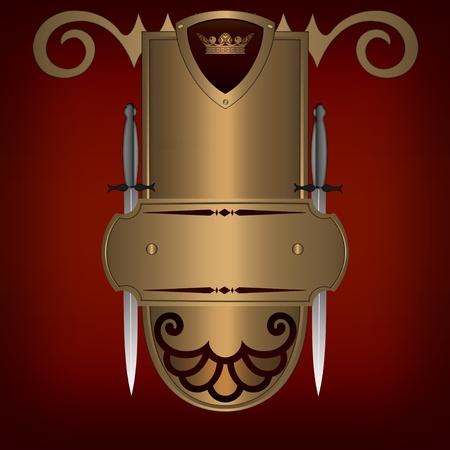 coverbook: Estratto d'oro scudo con due spade