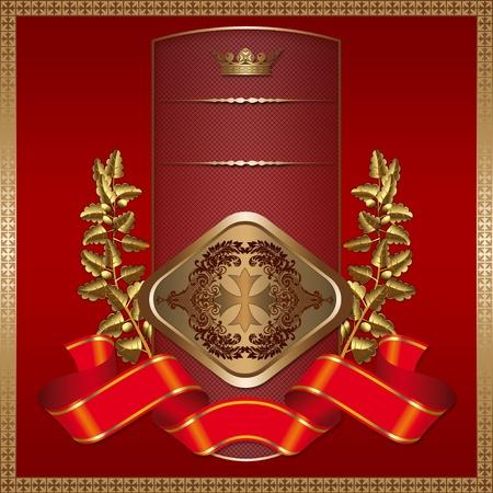 luxurious background: Luxurious background with golden elements