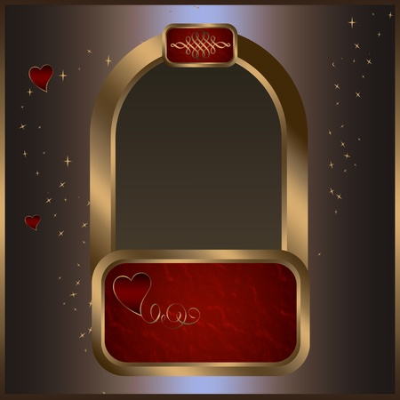 Greeting card of valentines day. photo