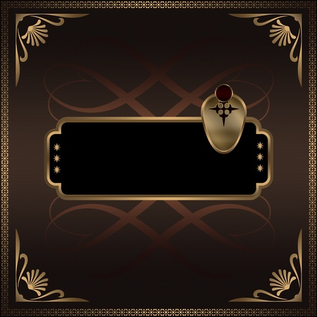 Decorative background with frame. photo