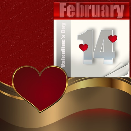 Valentines day greeting background. Stock Photo - 12703736