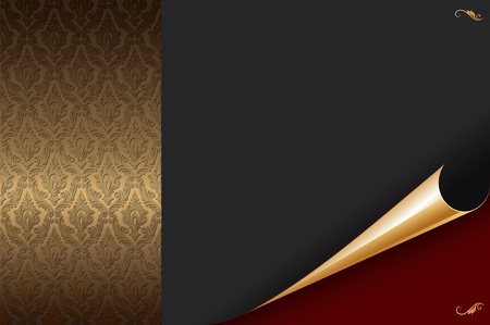 Decorative background with golden pattern  photo