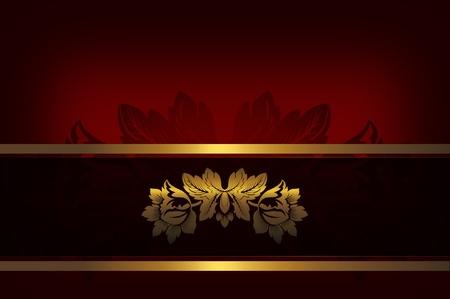 Decorative background with golden flower  photo