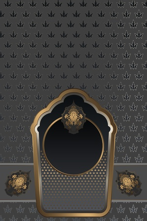 Decorative background with elegant patterns photo