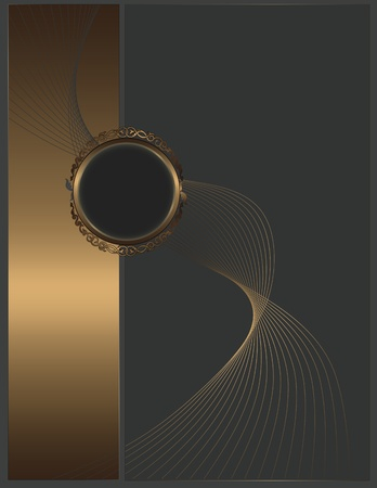 Abstract background with golden elements for the design of your text