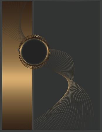 coverbook: Abstract background con elementi d'oro per la progettazione del testo Archivio Fotografico