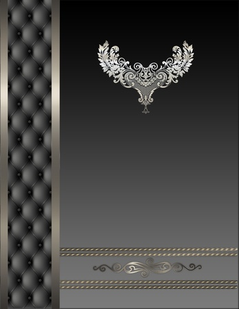 Decorative background with ornament  photo