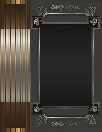 Decorative background with frame  photo