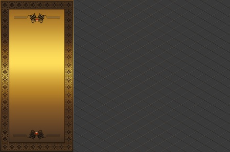 Decorative background with golden frame  photo