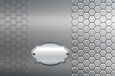 Decoratieve metalen plaat Stockfoto - 12923880