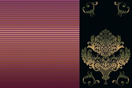 coverbook: Sfondo decorativo con ornamento d'oro