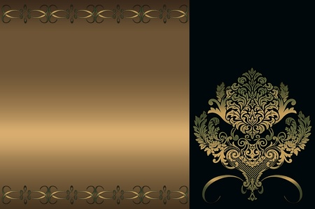 Decorative golden background  Vintage style  photo