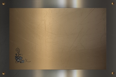 Composition metal abstract background  Nameplate photo