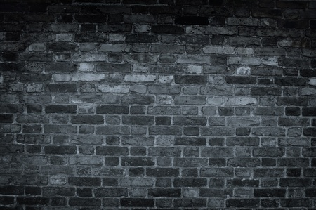 old brick wall: Dark wall background