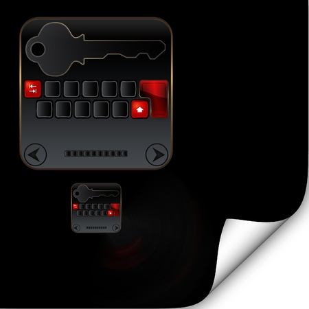 teclado numérico: Resumen de fondo con un teclado numérico y la tecla