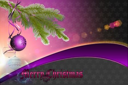 Decorative background of Merry Christmas  photo