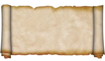 Ancient scroll of parchment  photo
