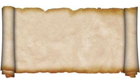 Antiguo rollo de pergamino Foto de archivo - 13169186