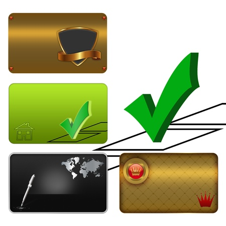 Business card template collection Stock Photo - 13169236