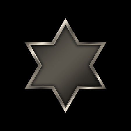 Shield of David on a black background  photo