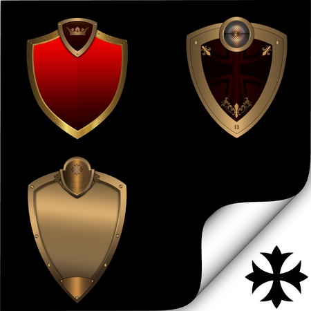 Collection of shields photo