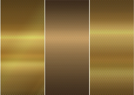 Mesh gold and bronze plates Stock Photo - 13528595