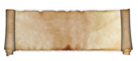 Scroll of ancient parchment  Stock Photo