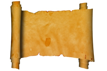 Scroll of ancient parchment  photo