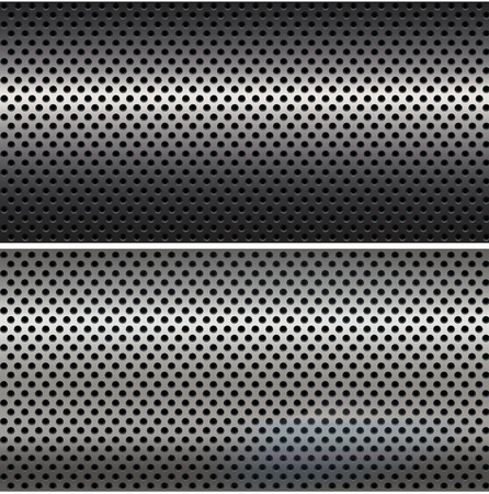 Two metal mesh textures. photo