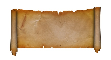 Antique scroll of parchment  photo