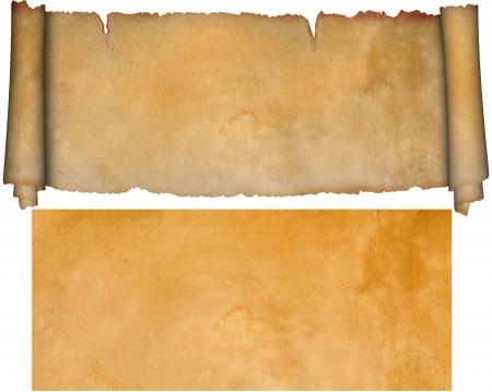 Desplazamiento y la hoja de papel viejo para el diseño Foto de archivo - 14168763