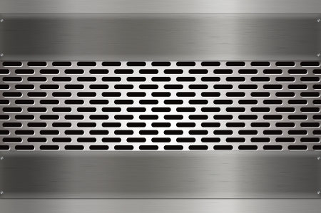 Mesh metal background photo