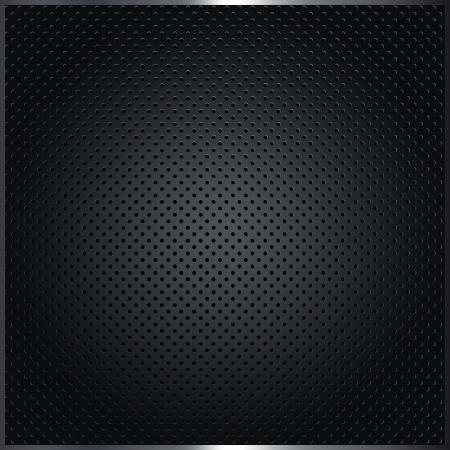 Dark metal background.