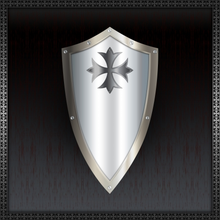 Shield with maltese cross