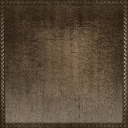 Grunge paper background with decorative border  photo