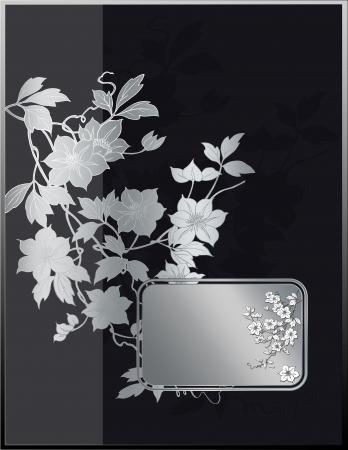 coverbook: Ornato di sfondo in stile giapponese