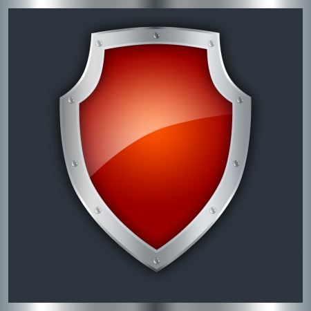 Red shield  Stock Photo - 14264621
