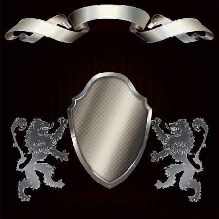 Heraldic background  Stock Photo
