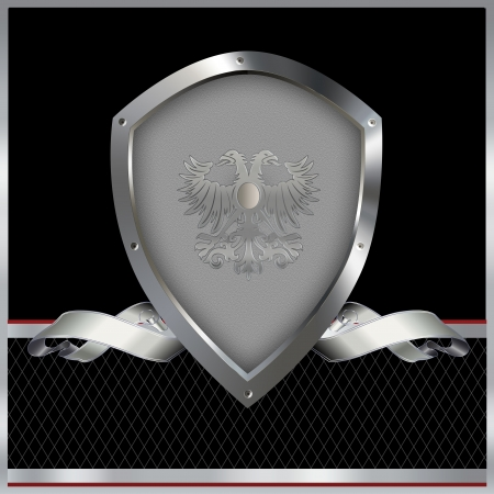 Decorative background with shield and ribbon Stock Photo - 14463539