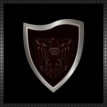 Decorative heraldic shield with image of eagle  Stock Photo - 14463555