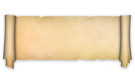 spotty: Antique scroll on a white background  Stock Photo