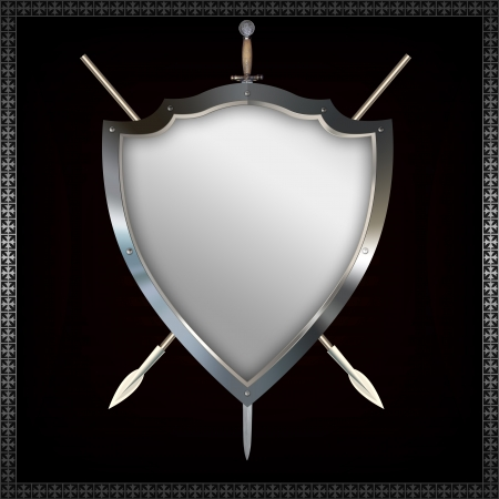 Shield with spears and sword