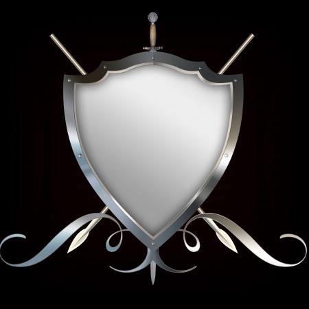 Decorative heraldic shield for the design