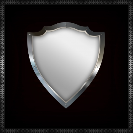 riveted: Riveted shield  Stock Photo