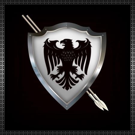 Heraldic sheld with spears  Stock Photo - 14463499