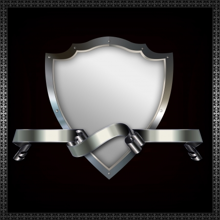 Heraldic shield and ribbon Stock Photo - 14463498